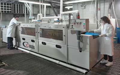 Modern dual chamber etch line